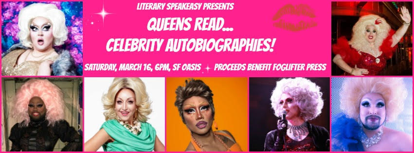 Event Benefiting Foglifter Press : Queens Read Celebrity Autobiographies!